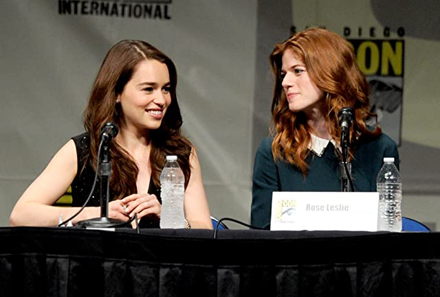 Rose Leslie and Emilia Clarke at Game of Thrones (2011)