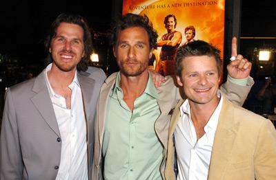 Matthew McConaughey, Steve Zahn, and Breck Eisner at Sahara (2005)