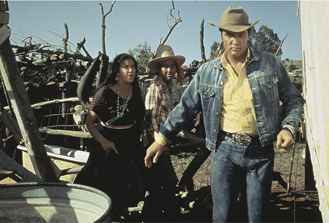 Elvis Presley, Katy Jurado, and Burgess Meredith in Stay Away, Joe (1968)