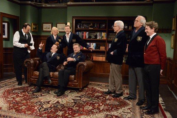 Dan Aykroyd, Tom Hanks, Steve Martin, Alec Baldwin, Candice Bergen, Chevy Chase, Martin Short, and Justin Timberlake in Saturday Night Live (1975)