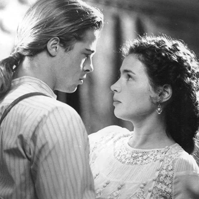 Brad Pitt and Julia Ormond in Legends of the Fall (1994)