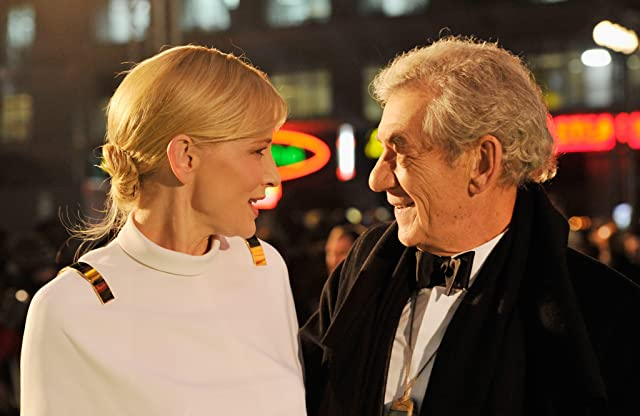 Cate Blanchett and Ian McKellen at The Hobbit: An Unexpected Journey (2012)