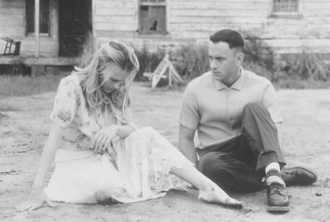 Tom Hanks and Robin Wright in Forrest Gump (1994)