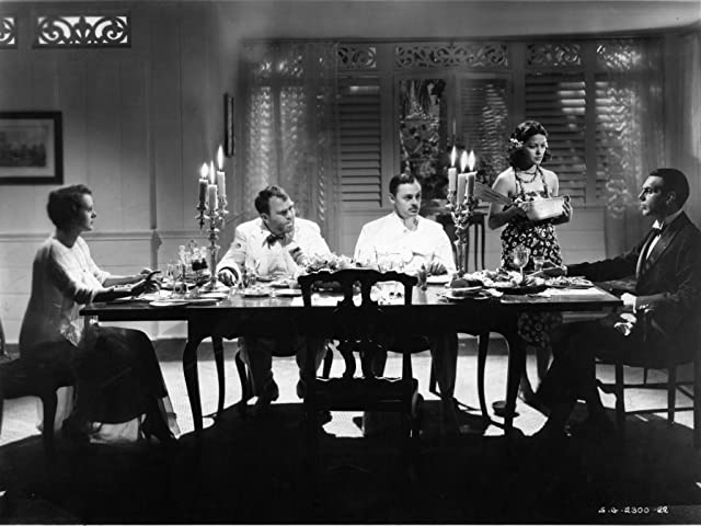 Mary Astor, Mamo Clark, Jerome Cowan, Raymond Massey, and Thomas Mitchell in The Hurricane (1937)