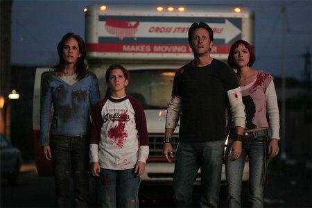 Annabeth Gish, Steven Weber, Kelly Overton, and Shane Haboucha in Desperation (2006)