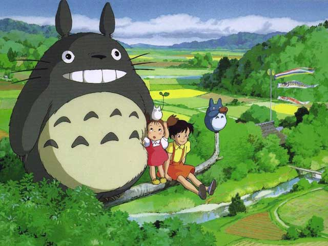 Noriko Hidaka, Chika Sakamoto, and Hitoshi Takagi in My Neighbor Totoro (1988)