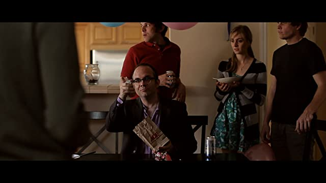 Will Hines toasting a birthday wish to Michael Cera. Bad Dads (2010). Directed by Derek Westerman