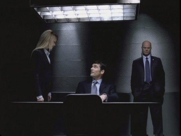 Robert Farrior, John Finn, and Kathryn Morris in Cold Case (2003)