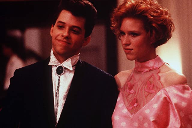 Molly Ringwald and Jon Cryer in Pretty in Pink (1986)