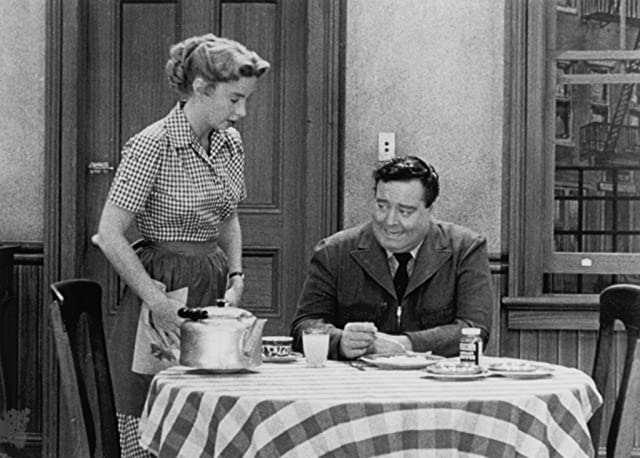 Jackie Gleason and Audrey Meadows in The Honeymooners (1955)
