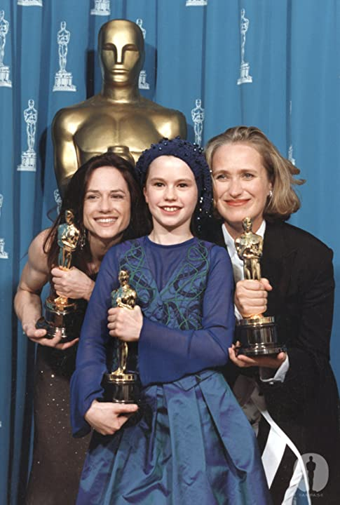 Holly Hunter, Jane Campion, and Anna Paquin at The 66th Annual Academy Awards (1994)
