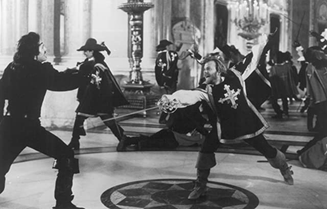 Kiefer Sutherland and Michael Wincott in The Three Musketeers (1993)
