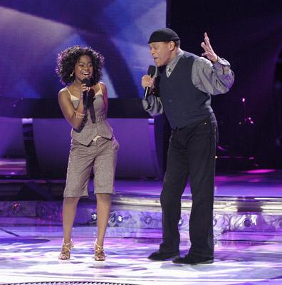 Al Jarreau and Paris Bennett at American Idol (2002)