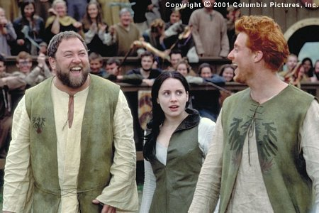(From left to right) Roland (Mark Addy), Kate (Laura Fraser) and Wat (Alan Tudyk) are three of William's biggest fans
