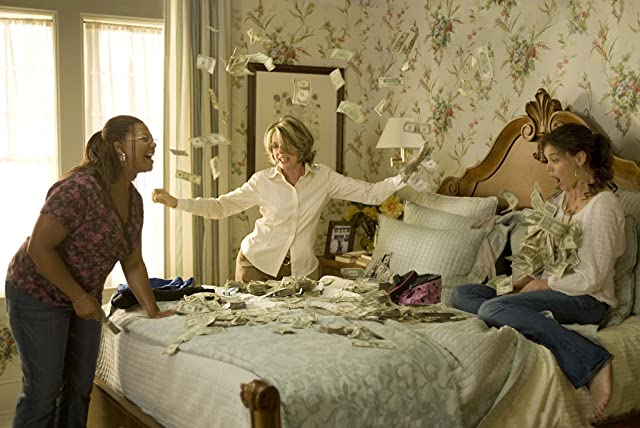 Diane Keaton, Queen Latifah, and Katie Holmes in Mad Money (2008)