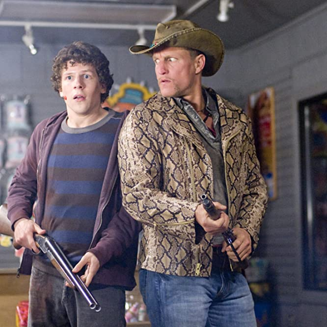Woody Harrelson and Jesse Eisenberg in Zombieland (2009)
