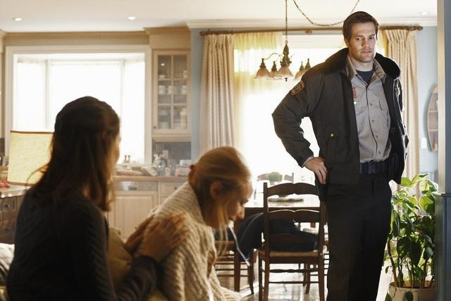 Amy Acker, Sarah Gadon, and Geoff Stults in Happy Town (2010)