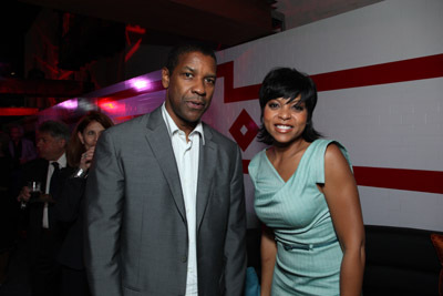 Denzel Washington and Taraji P. Henson at The Taking of Pelham 1 2 3 (2009)