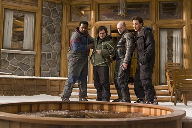 John Cusack, Clark Duke, Craig Robinson, and Rob Corddry in Hot Tub Time Machine (2010)