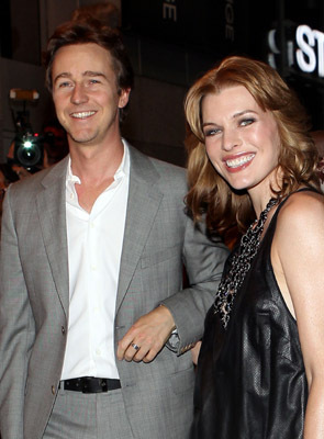 Milla Jovovich and Edward Norton