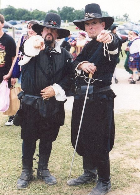 Director/Actor Forsberg with fellow performer Maurice McNicolas on the set of Bristol, 1997.
