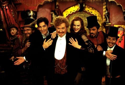 Nicole Kidman, Ewan McGregor, John Leguizamo, Jim Broadbent, and Jacek Koman in Moulin Rouge! (2001)