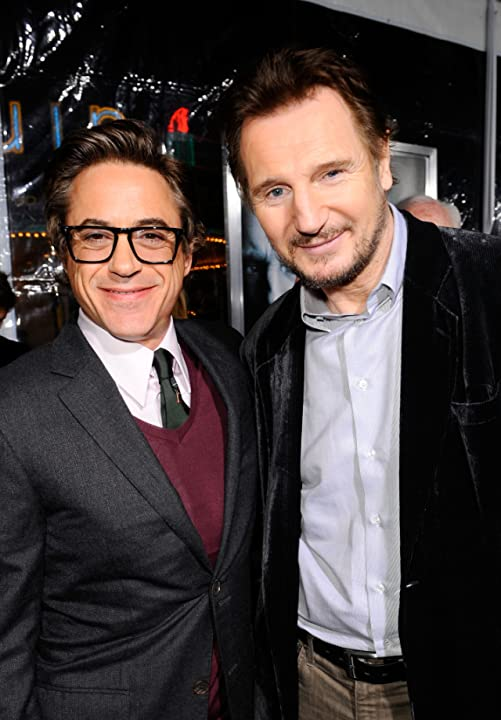 Robert Downey Jr. and Liam Neeson at an event for Unknown (2011)