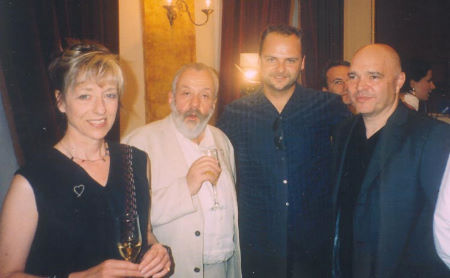 Mike Leigh, Michael Klesic and Anthony Minghella at the Awards Reception for the 10th Anual Sarajevo Film Festival.