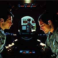 Keir Dullea, Gary Lockwood, and Douglas Rain in 2001: A Space Odyssey (1968)
