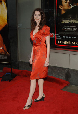 Anne Hathaway at an event for Cinderella Man (2005)
