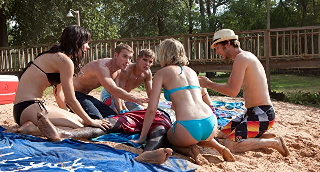 Joel David Moore, Sara Paxton, Dustin Milligan, Katharine McPhee, Sinqua Walls, and Chris Zylka in Shark Night 3D (2011)