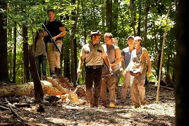 Norman Reedus, Laurie Holden, Andrew Lincoln, Melissa McBride, Sarah Wayne Callies, Jon Bernthal, and Steven Yeun in The Walking Dead (2010)