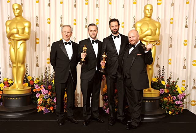 Steven Spielberg, Emile Sherman, Gareth Unwin, and Iain Canning