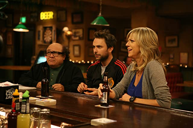 Danny DeVito, Charlie Day, and Kaitlin Olson in It's Always Sunny in Philadelphia: Mac Fights Gay Marriage (2010)