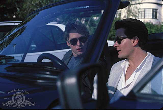 Charlie Sheen and D.B. Sweeney in No Man's Land (1987)