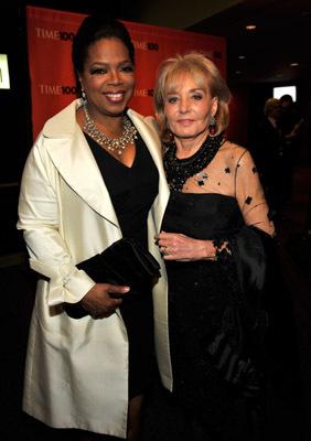 Oprah Winfrey and Barbara Walters