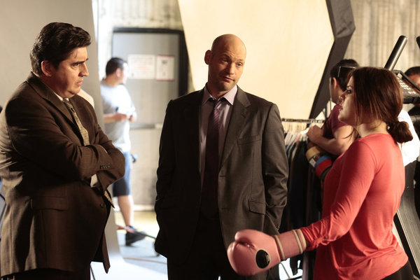 Alfred Molina, Corey Stoll, and Khloé Kardashian in Law & Order: LA (2010)