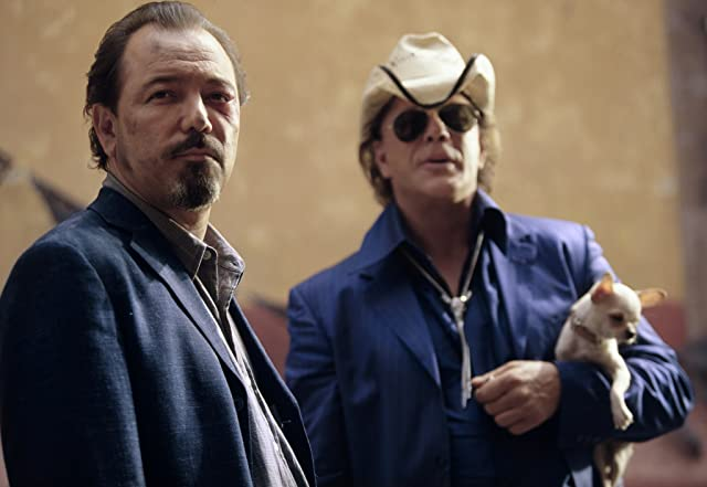 Mickey Rourke and Rubén Blades in Once Upon a Time in Mexico (2003)