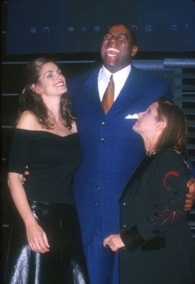 Cindy Crawford, Carrie Fisher, and Magic Johnson