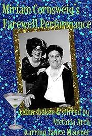 Miriam Cornsweig's Farewell Performance Poster
