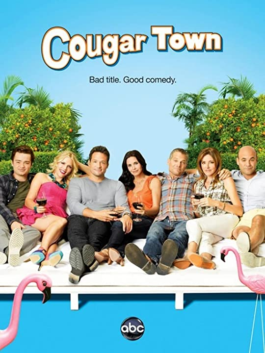 Courteney Cox, Josh Hopkins, Busy Philipps, Dan Byrd, Ian Gomez, Christa Miller, and Brian Van Holt in Cougar Town (2009)