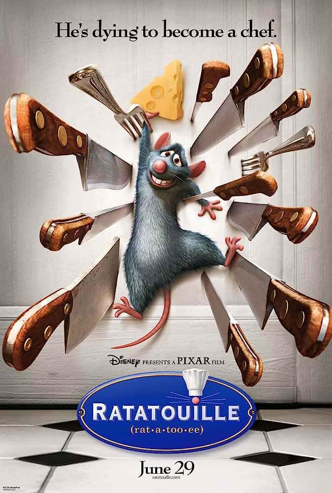 Ratatouille 2007 English Hindi Dual Audio 720p Esub BluRay 650MB