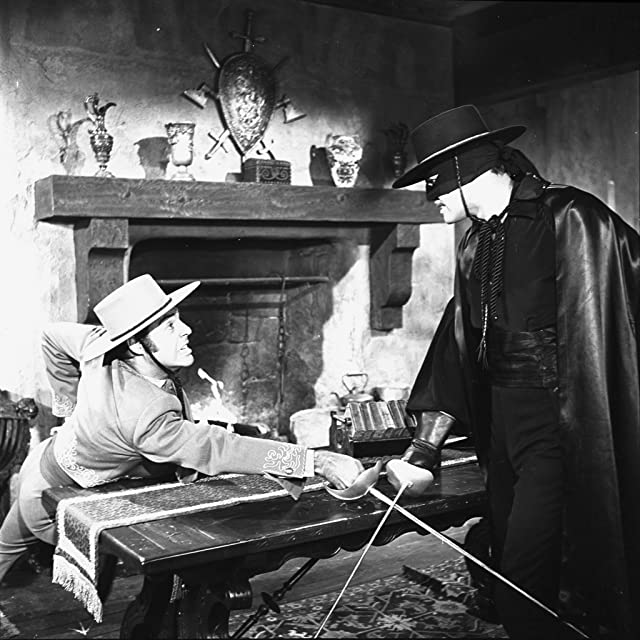 Carlos Romero and Guy Williams in Zorro (1957)