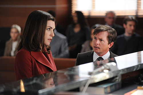 Michael J. Fox and Julianna Margulies in The Good Wife (2009)