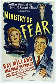 Ministry of Fear (1944) Poster - Movie Forum, Cast, Reviews