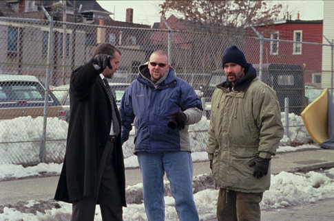 (l to r) Ray Liotta, director Joe Carnahan, Jason Patric