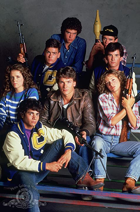 Charlie Sheen, Jennifer Grey, Patrick Swayze, Lea Thompson, C. Thomas Howell, Darren Dalton, Brad Savage, and Doug Toby in Red Dawn (1984)