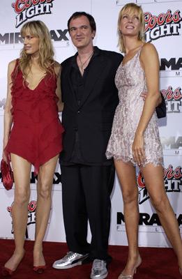 Quentin Tarantino, Uma Thurman, and Daryl Hannah at Kill Bill: Vol. 1 (2003)