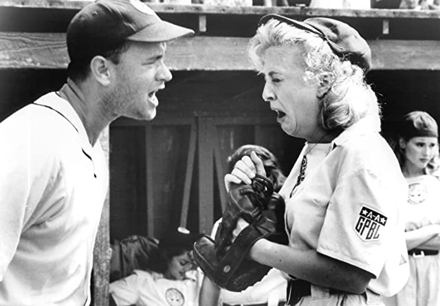 Tom Hanks and Bitty Schram in A League of Their Own (1992)