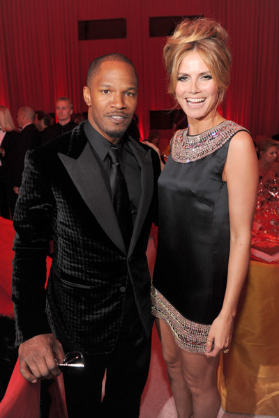 Jamie Foxx and Heidi Klum at event of The 82nd Annual Academy Awards